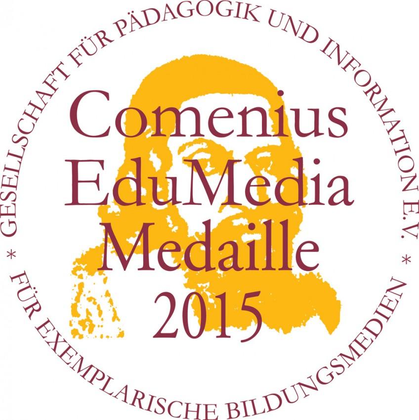 Logo Comenius EduMedia Medaille 2015