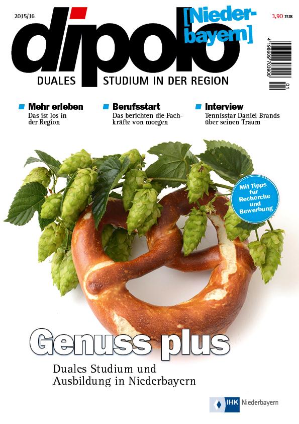 Titel des Magazines Dipolo Niederbayern, Ausgabe 2015/16
