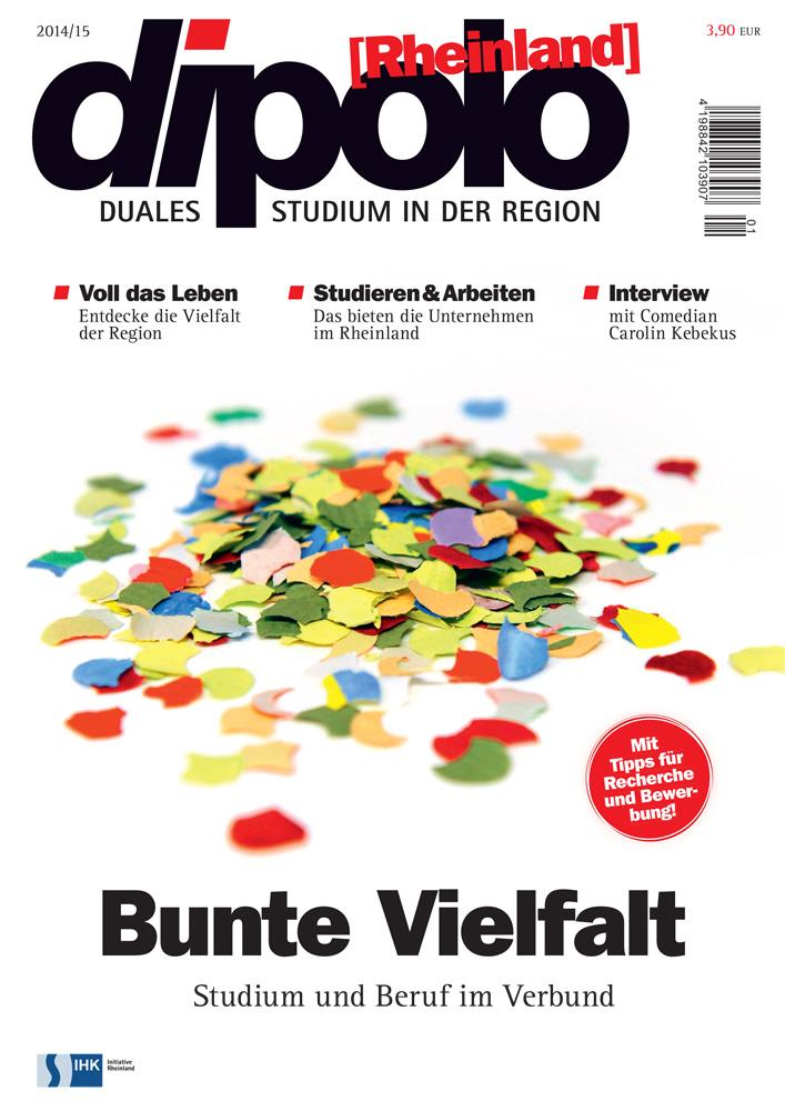 Titel des Magazines Dipolo Rheinland, Ausgabe 2014/15