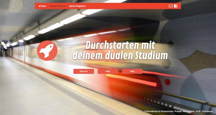 Unterseite der Website dipolo.de