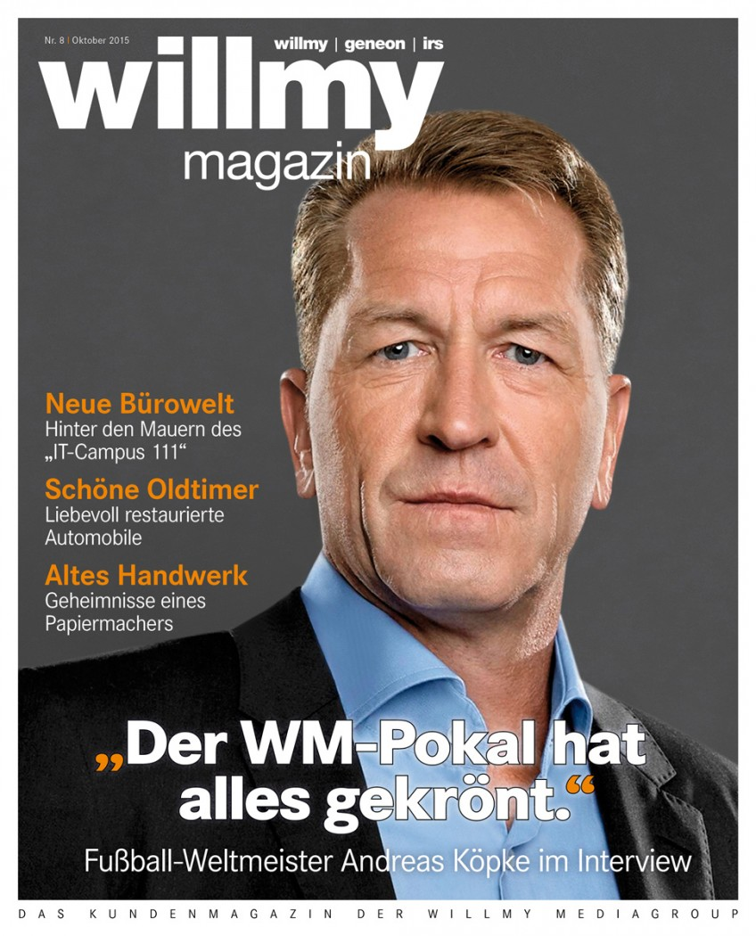 Titel Willmy Magazin Nr. 8, 2015
