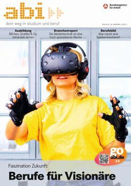eine junge Frau trägt eine VR-Brille und VR-Handschuhe