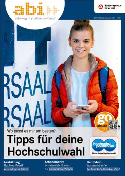 Titelbild des abi>> Magazins 06/2020 Tipps für deine Hochschulwahl