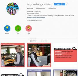 IHK Startpunkt Ausbildung Instagram Seite