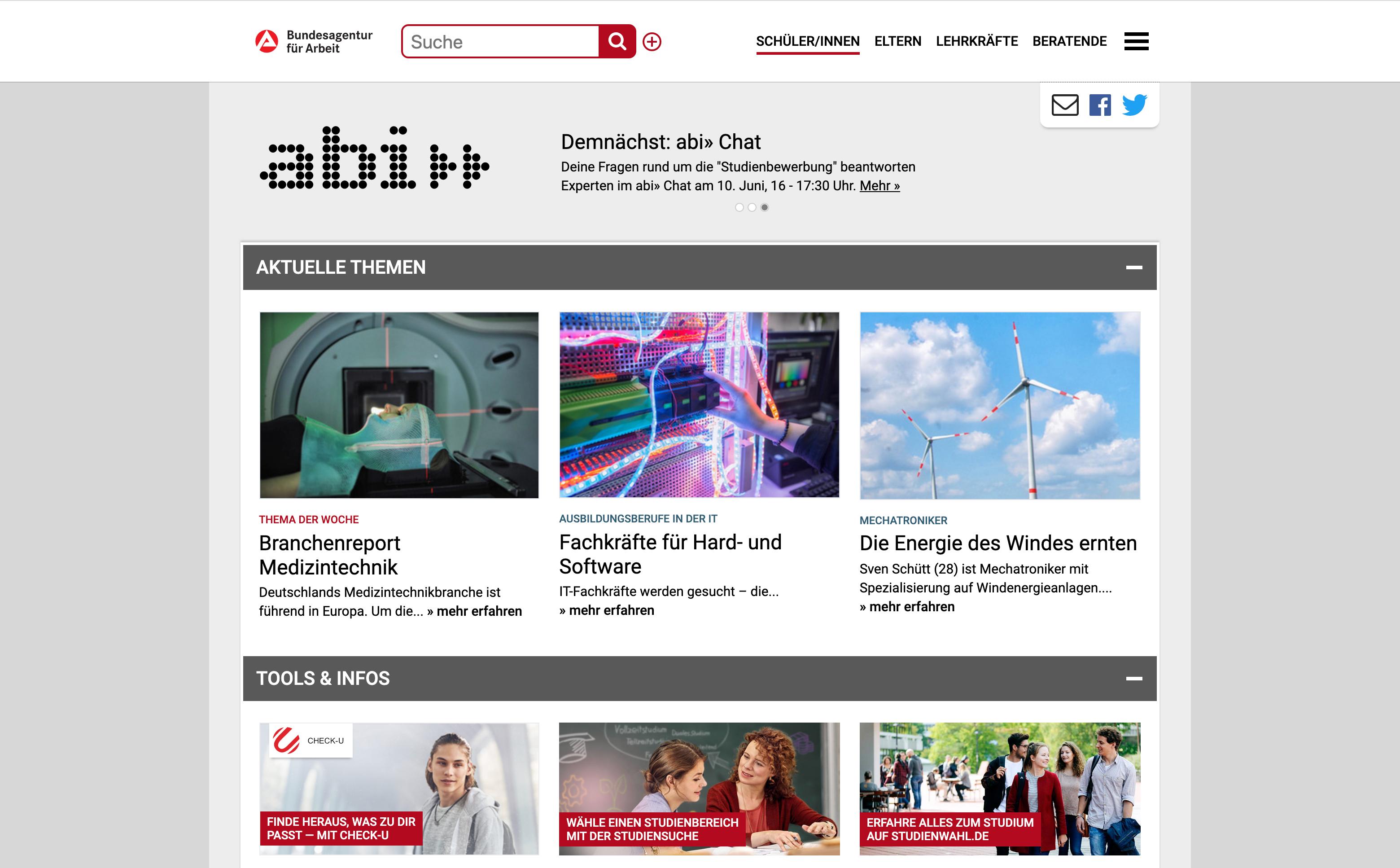 Startseite abi Portal
