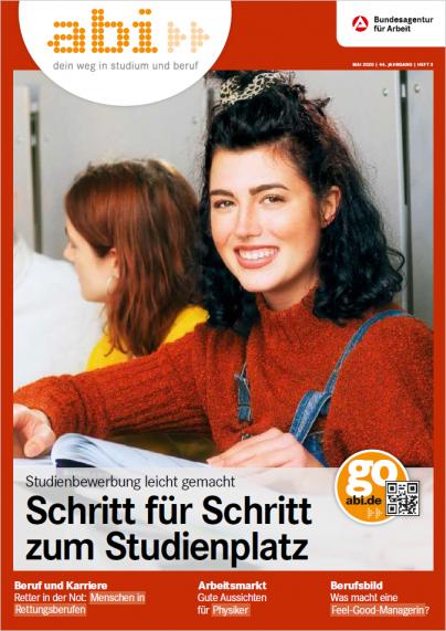 Titelbild abi 3/2020 junge Frau schaut in die Kamera