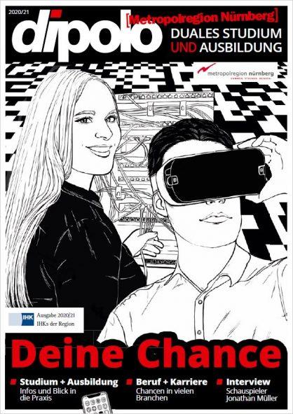 Zu sehen ist das Titelbild von dipolo Nürnberg Ausgabe 2020/21.
