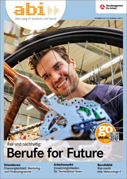 Titelbild des abi>> Magazins 05/2020 Berufe for Future