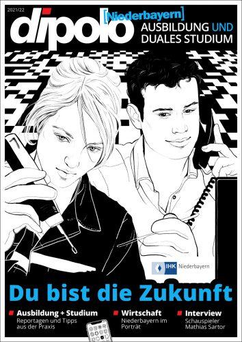 Zu sehen ist das Titelbild des Magazins dipolo Niederbayern 2021/22
