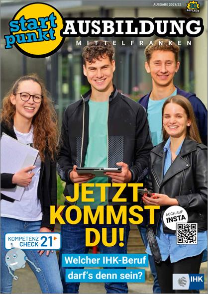 Zu sehen ist das Titelbild des Magazins STARTPUNKT AUSBILDUNG in der Ausgabe 2021/22